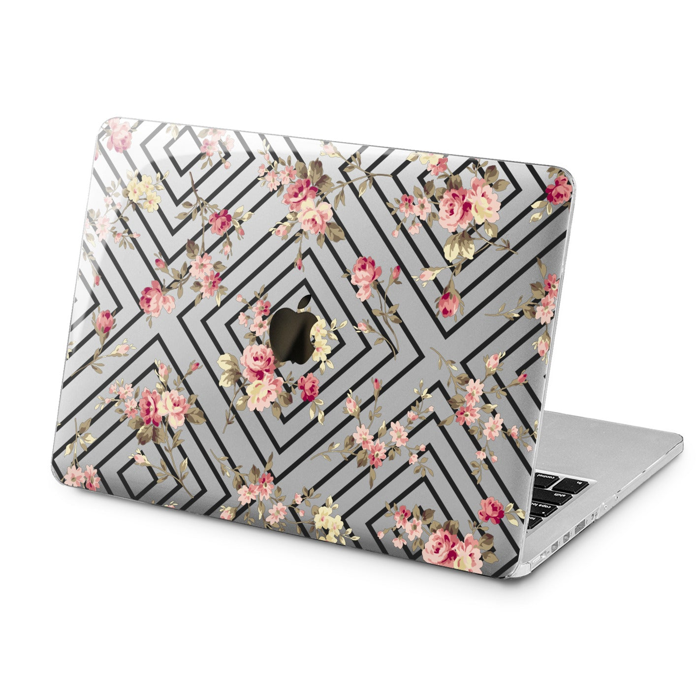 Lex Altern Floral Geometry Design Case for your Laptop Apple Macbook.