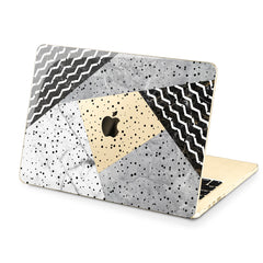 Lex Altern Hard Plastic MacBook Case Black and White Art