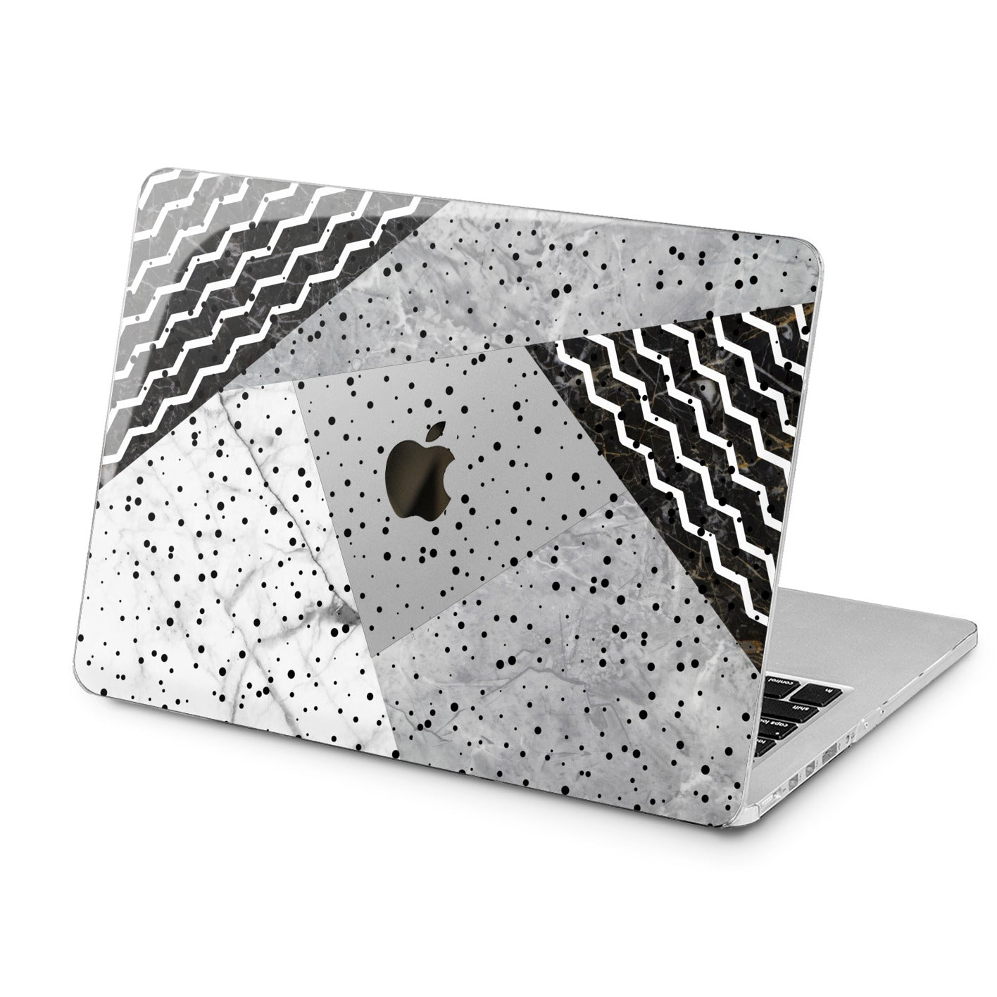 Lex Altern Black and White Art Case for your Laptop Apple Macbook.