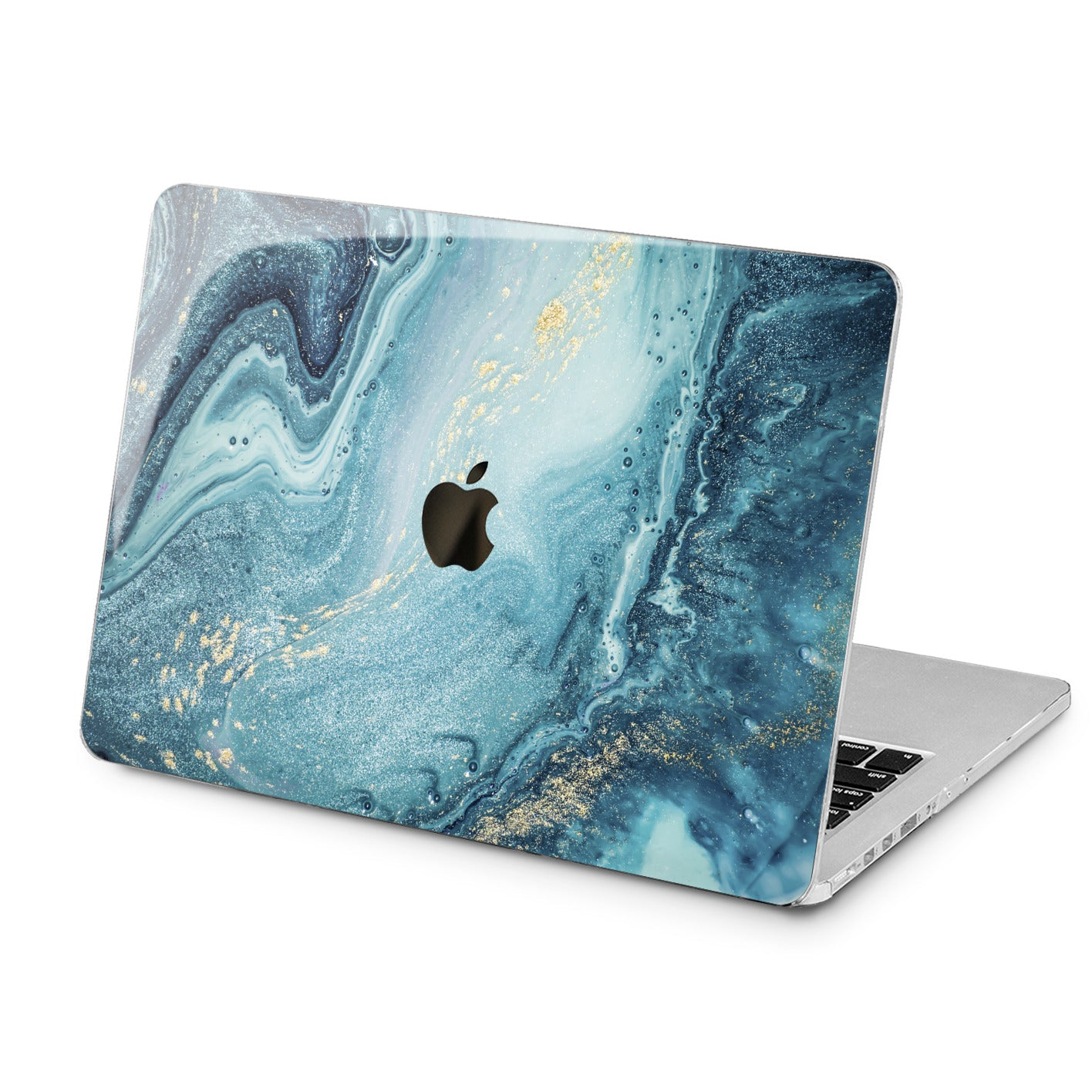 Lex Altern Blue Paint Art Case for your Laptop Apple Macbook.