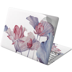 Lex Altern Vinyl MacBook Skin Tender Pink Lotuses