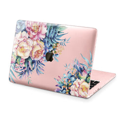 Lex Altern Hard Plastic MacBook Case Watercolor Flowers Design