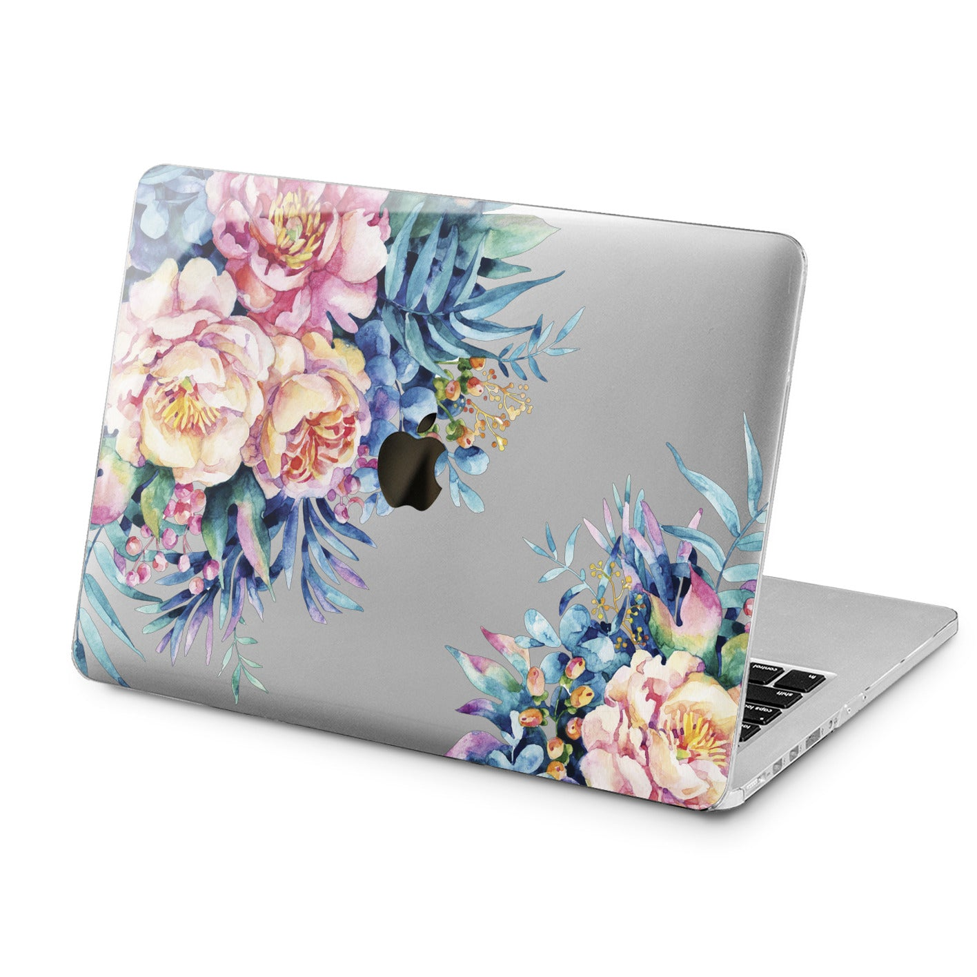 Lex Altern Watercolor Flowers Design Case for your Laptop Apple Macbook.