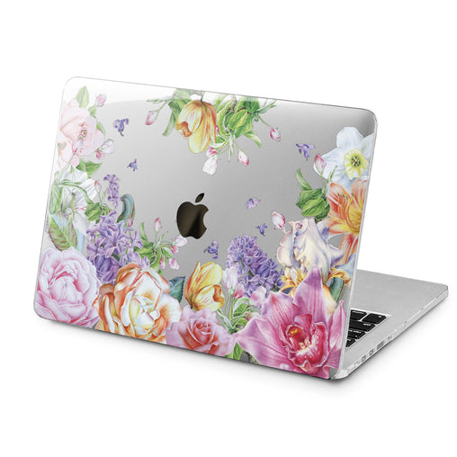 Lex Altern Pink Peonies Print Case for your Laptop Apple Macbook.