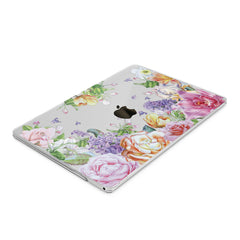 Lex Altern Hard Plastic MacBook Case Pink Peonies Print