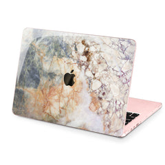 Lex Altern Hard Plastic MacBook Case Grey Marble Art