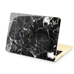 Lex Altern Hard Plastic MacBook Case Black Cracked Marble