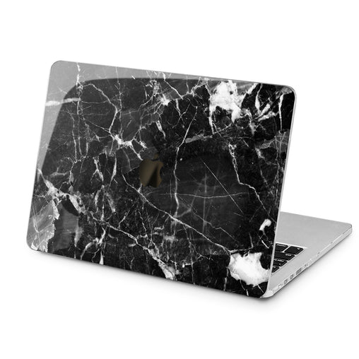 Lex Altern Black Cracked Marble Case for your Laptop Apple Macbook.
