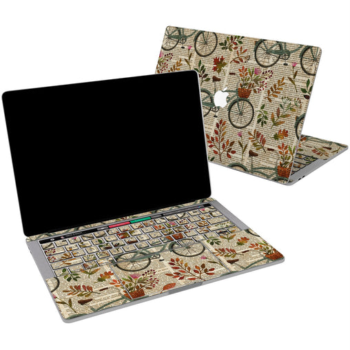 Lex Altern Vinyl MacBook Skin Floral Bicycle Theme for your Laptop Apple Macbook.