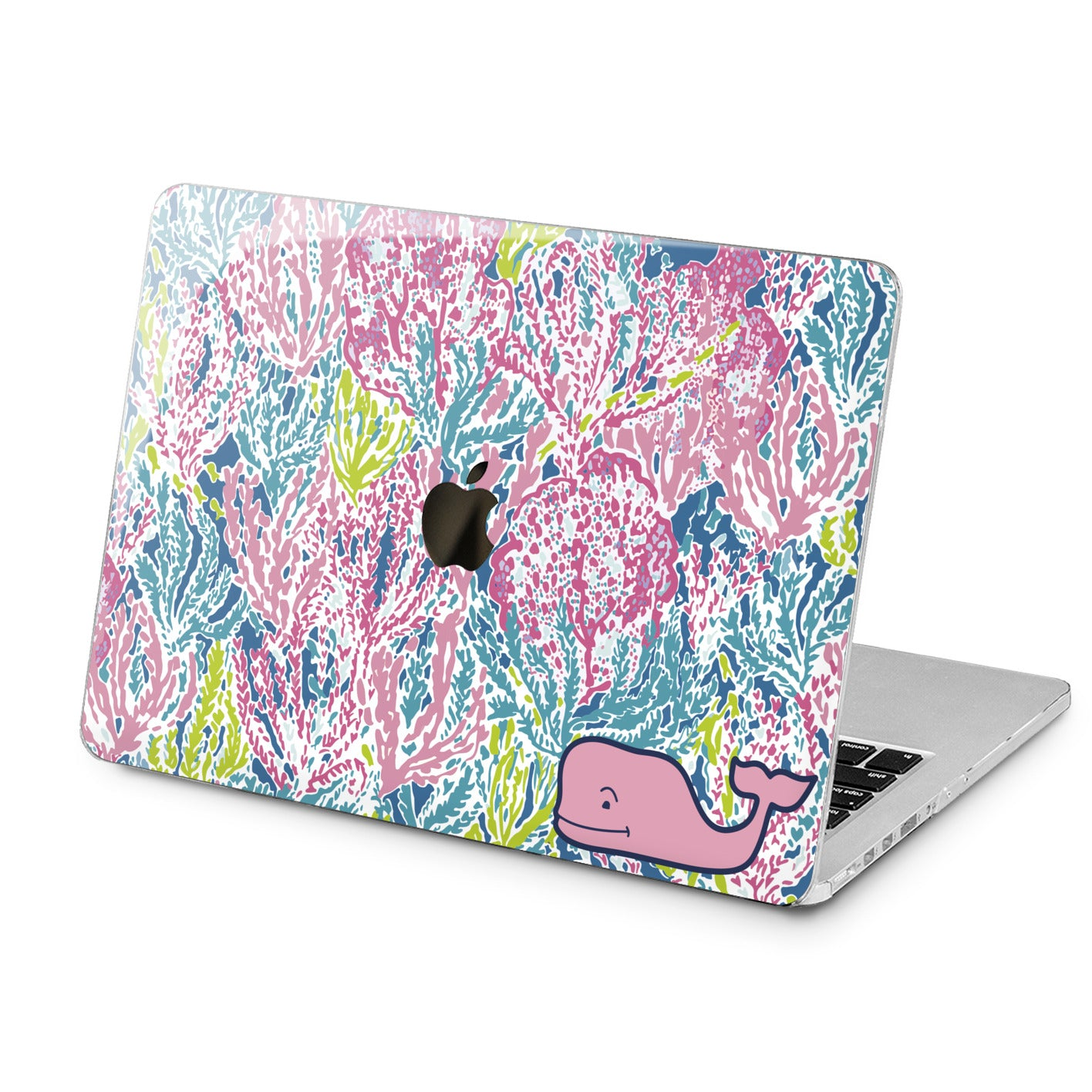 Lex Altern Cute Pink Whale Case for your Laptop Apple Macbook.