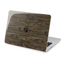 Lex Altern Dark Wood Design Case for your Laptop Apple Macbook.