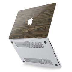Lex Altern Hard Plastic MacBook Case Dark Wood Design