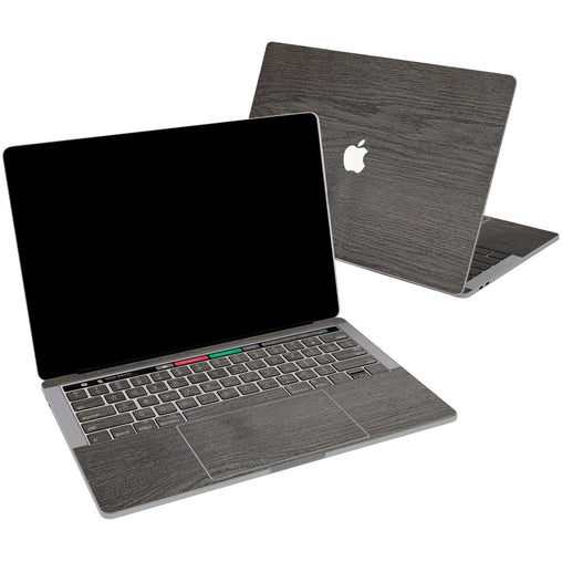 Lex Altern Vinyl MacBook Skin Grey Polished Wood for your Laptop Apple Macbook.