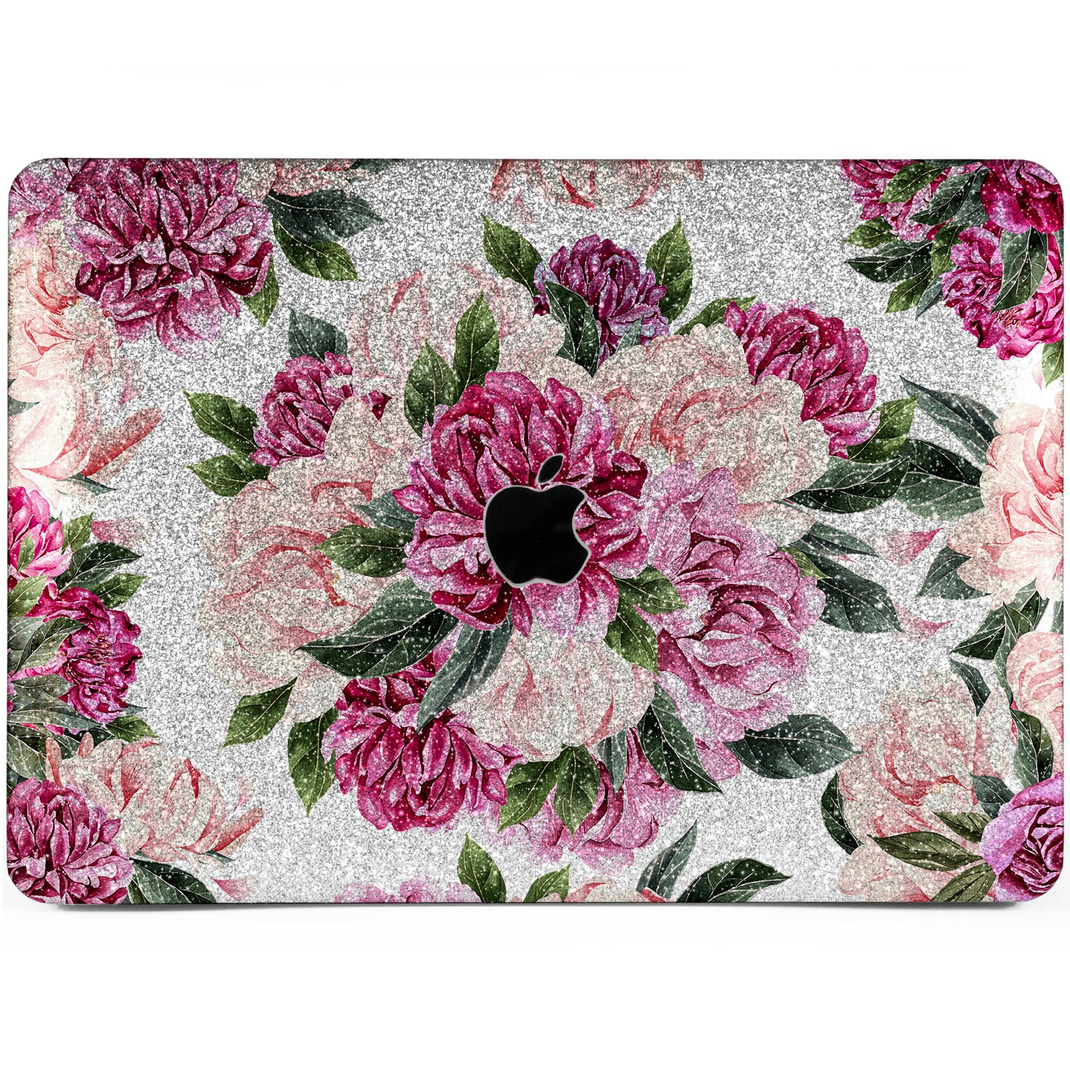 Lex Altern Pink Peonies Art Glitter Case for your Laptop Apple Macbook.