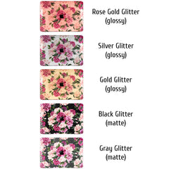Lex Altern MacBook Glitter Case Pink Peonies Art