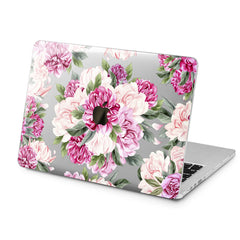 Lex Altern Pink Peonies Art Case for your Laptop Apple Macbook.