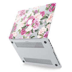 Lex Altern Hard Plastic MacBook Case Pink Peonies Art