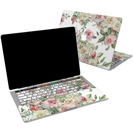 Lex Altern Vinyl MacBook Skin Pastel Roses for your Laptop Apple Macbook.