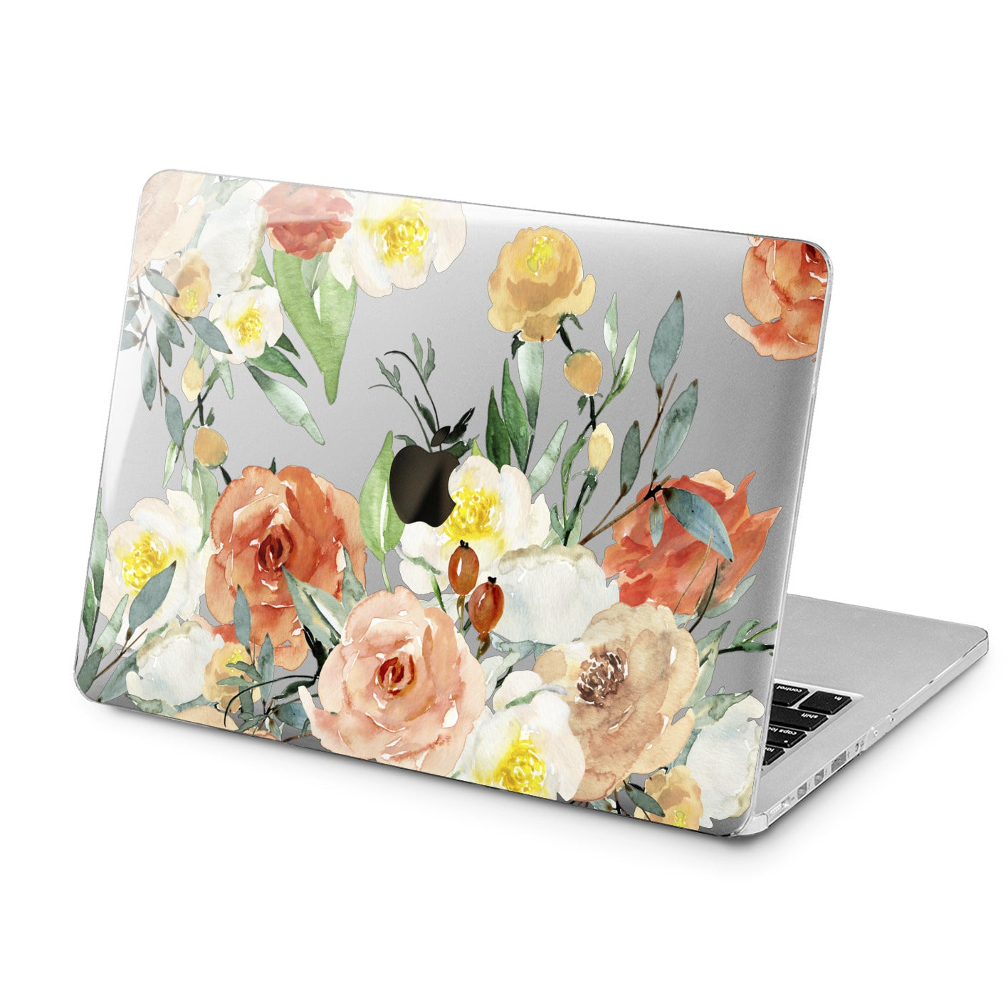 Lex Altern Orange Roses Print Case for your Laptop Apple Macbook.