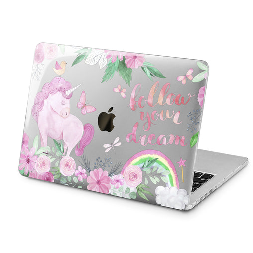 Lex Altern Pink Unicorn Print Case for your Laptop Apple Macbook.