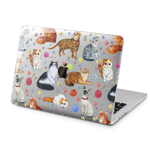 Lex Altern Cat Pattern Felines Case for your Laptop Apple Macbook.
