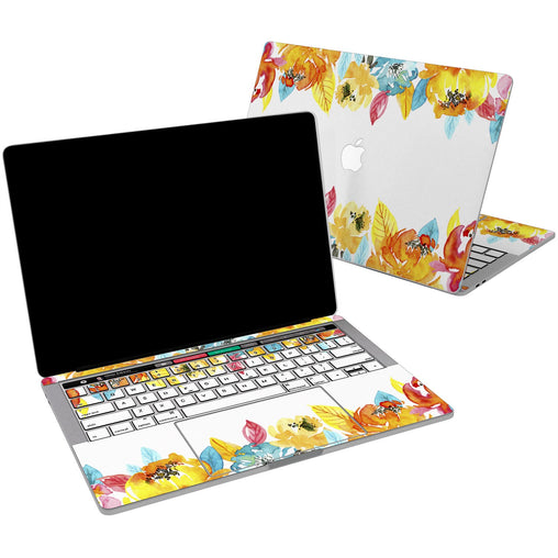 Lex Altern Vinyl MacBook Skin Autumn Flowers for your Laptop Apple Macbook.