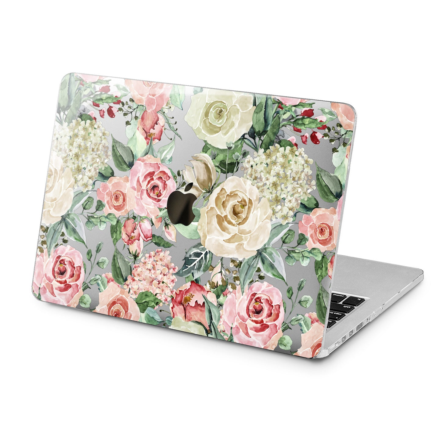 Lex Altern White Roses Art Case for your Laptop Apple Macbook.
