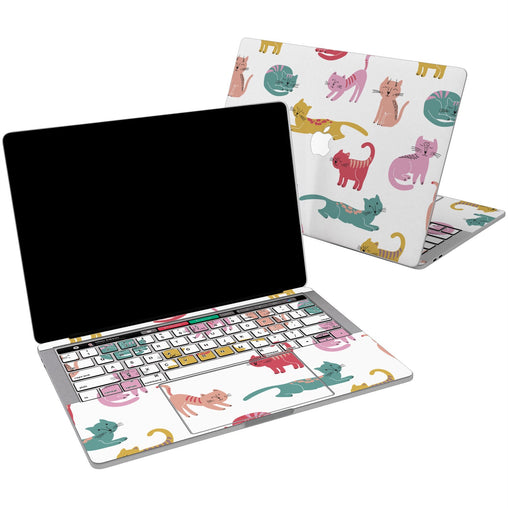 Lex Altern Vinyl MacBook Skin Colored Cat's for your Laptop Apple Macbook.