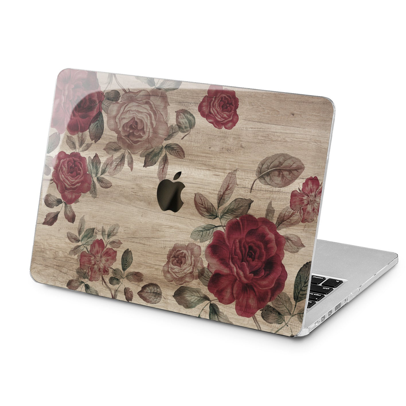 Lex Altern Red Roses Design Art Case for your Laptop Apple Macbook.