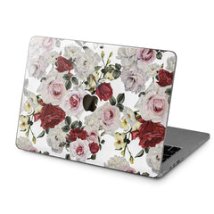 Lex Altern Hard Plastic MacBook Case White Roses Print