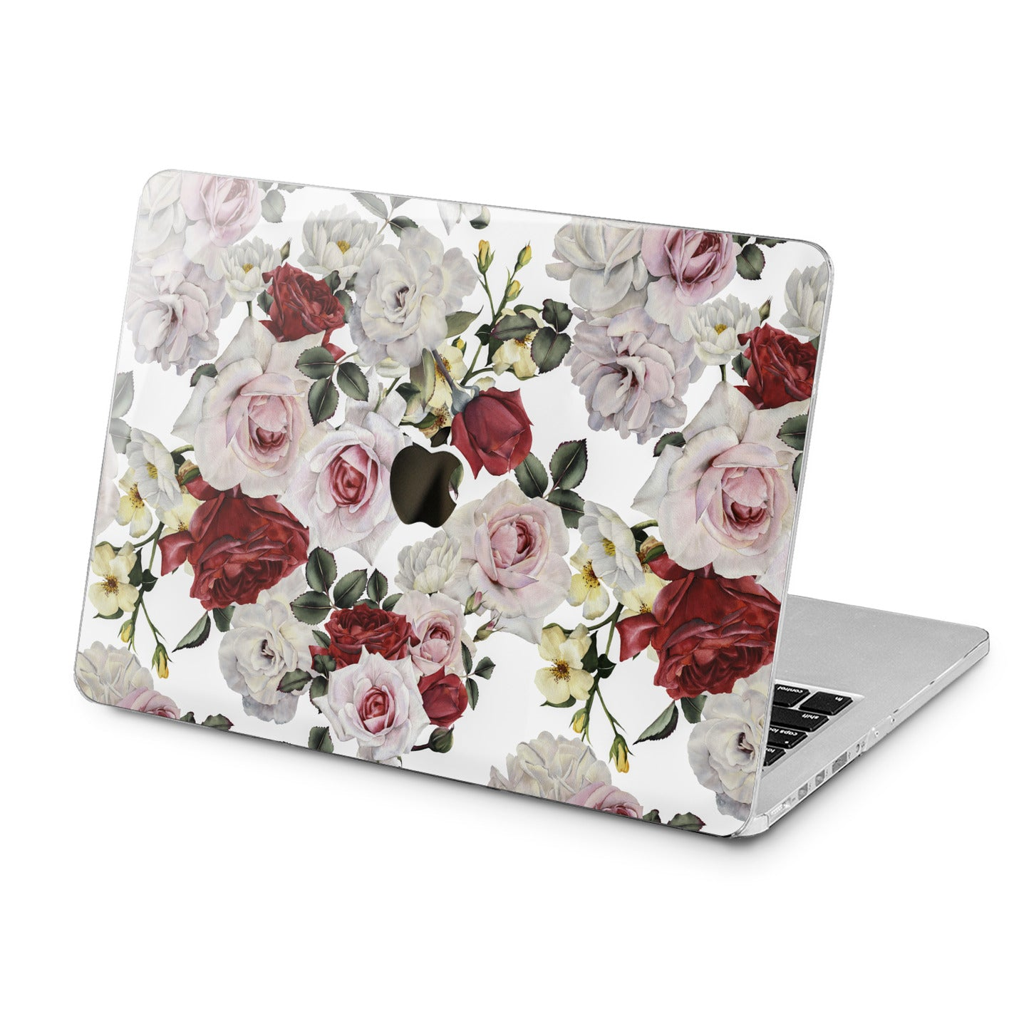 Lex Altern White Roses Print Case for your Laptop Apple Macbook.