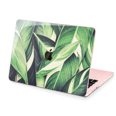 Lex Altern Hard Plastic MacBook Case Green Leaves Print