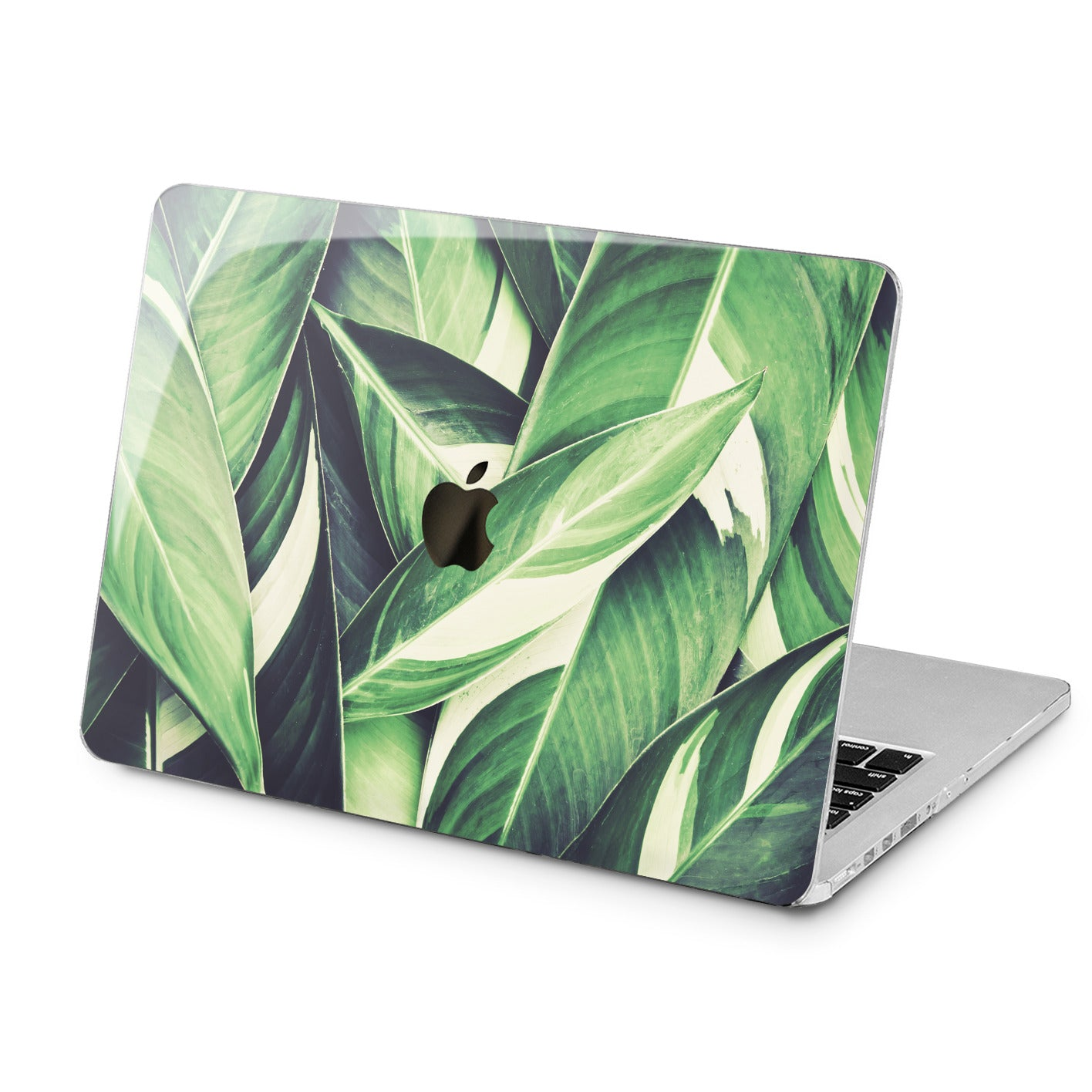Lex Altern Green Leaves Print Case for your Laptop Apple Macbook.