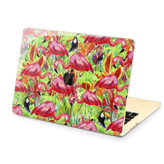 Lex Altern Hard Plastic MacBook Case Tropical Birds Design