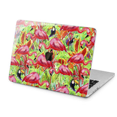 Lex Altern Tropical Birds Design Case for your Laptop Apple Macbook.