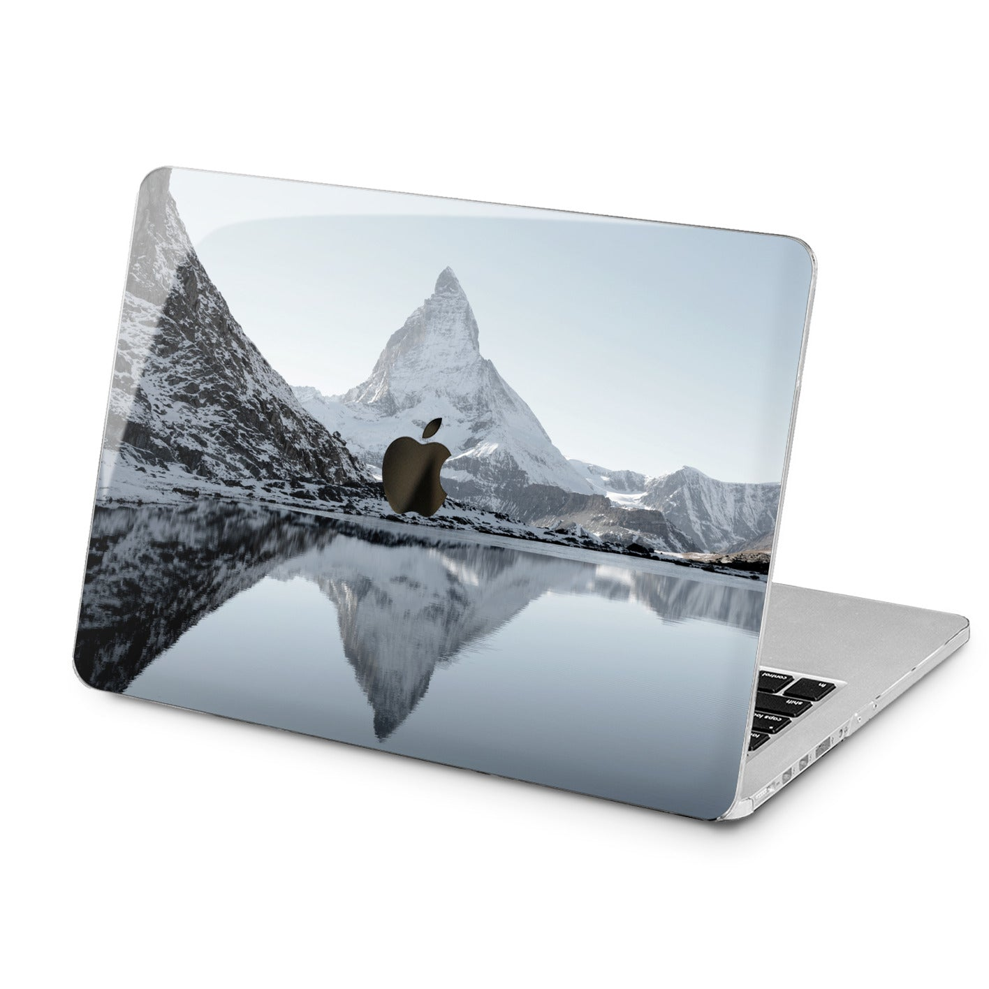 Lex Altern Snowy Mountains Print Case for your Laptop Apple Macbook.