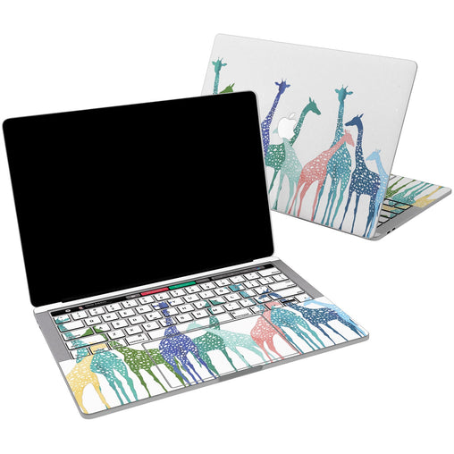 Lex Altern Vinyl MacBook Skin Colorful Giraffes for your Laptop Apple Macbook.