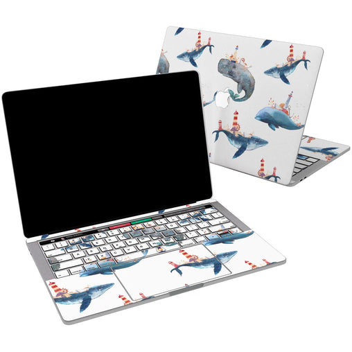 Lex Altern Vinyl MacBook Skin Cute Whales for your Laptop Apple Macbook.