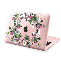 Lex Altern Hard Plastic MacBook Case Cotton Flowers Print