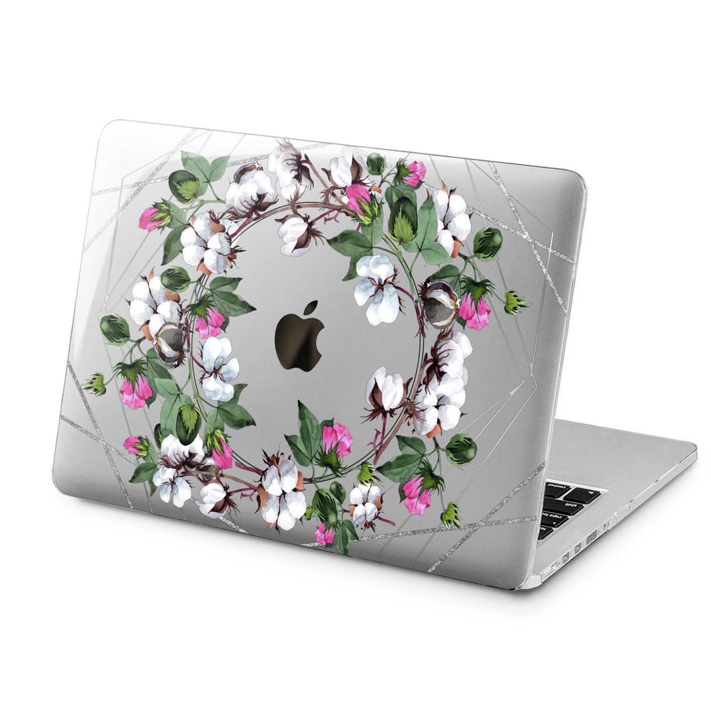 Lex Altern Cotton Flowers Print Case for your Laptop Apple Macbook.