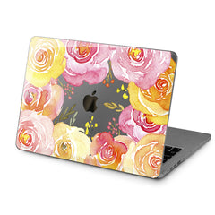 Lex Altern Hard Plastic MacBook Case Orange Roses Design