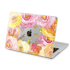 Lex Altern Orange Roses Design Case for your Laptop Apple Macbook.