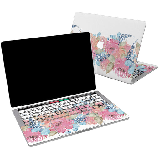 Lex Altern Vinyl MacBook Skin Vintage Flowers for your Laptop Apple Macbook.
