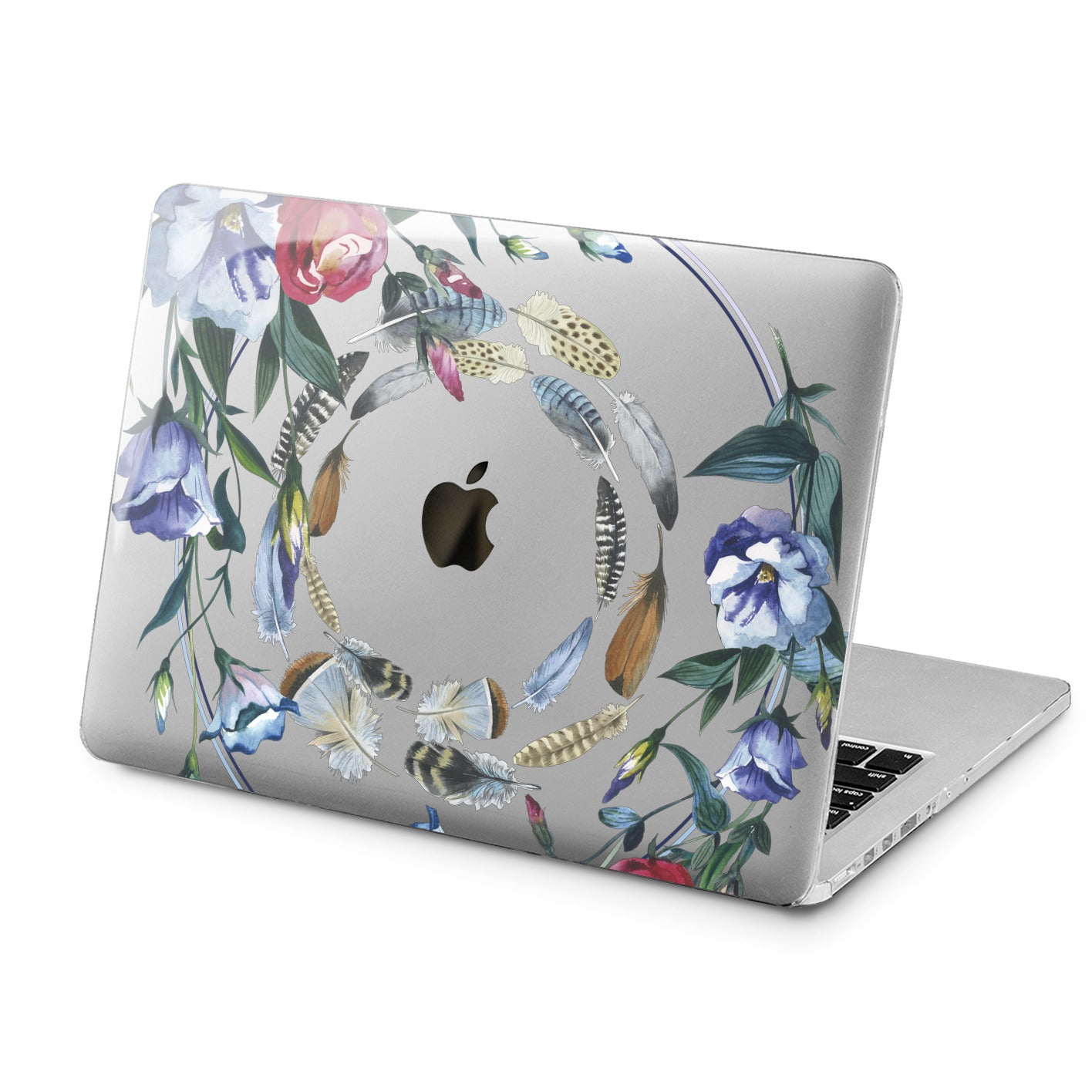 Lex Altern Floral Feathers Print Case for your Laptop Apple Macbook.