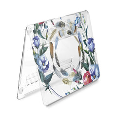 Lex Altern Hard Plastic MacBook Case Floral Feathers Print