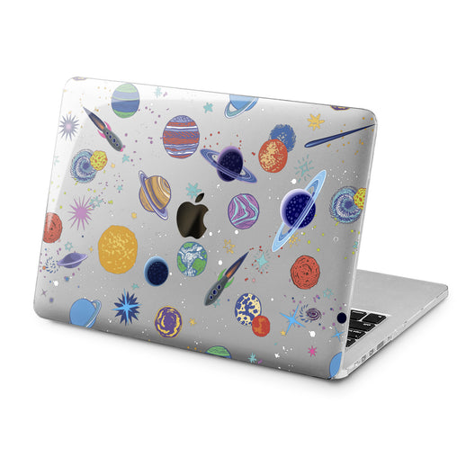 Lex Altern Cute Planets Print Case for your Laptop Apple Macbook.
