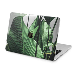 Lex Altern Green Leaves Art Case for your Laptop Apple Macbook.