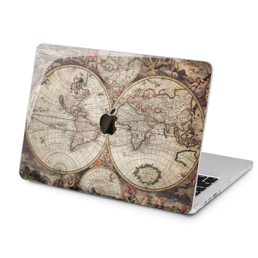 Lex Altern Bohemian Map Case for your Laptop Apple Macbook.