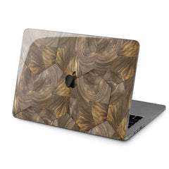 Lex Altern Hard Plastic MacBook Case Wooden Tile Art