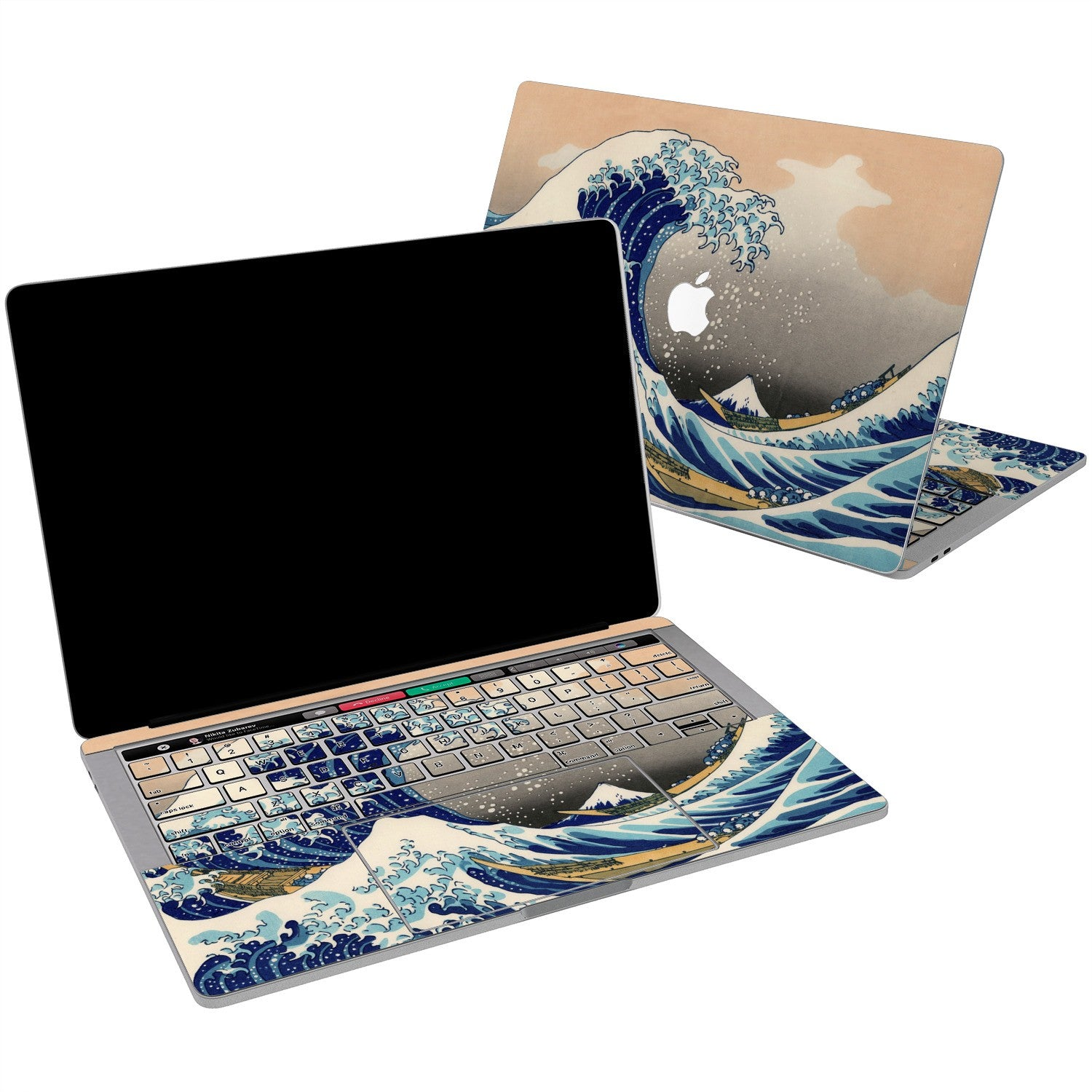 Lex Altern Vinyl MacBook Skin The Great Wave off Kanagawa for your Laptop Apple Macbook.